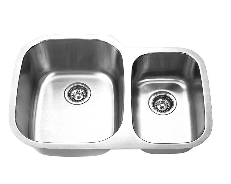 Undermount, Double Kitchen Sink (70/30), MODEL: 3021