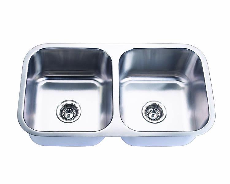 Undermount, Double Kitchen Sink (50/50), MODEL: 502A