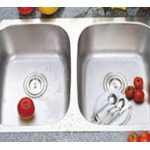 Stainless Steel 16 gauge, Double (50/50) Sink- UEC8247A